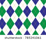 blue and green argyle background | Shutterstock .eps vector #785241061