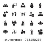 speech icon set | Shutterstock .eps vector #785250289