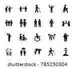 people icon set | Shutterstock .eps vector #785250304