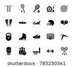 sports equipment icon set | Shutterstock .eps vector #785250361