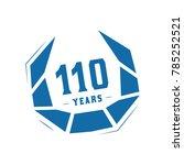 110 years design template.... | Shutterstock .eps vector #785252521