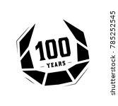 100 years design template.... | Shutterstock .eps vector #785252545