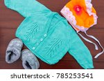 baby clothes  booties and... | Shutterstock . vector #785253541