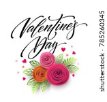 card of valentines day... | Shutterstock .eps vector #785260345