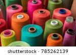 Colorful Yarn On Spool  Yarn O...
