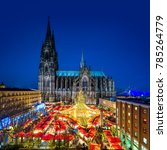 Small photo of Cologne Christmas Market with Cathedral (Dom)