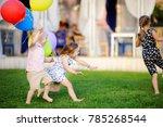 little boy and girl having fun... | Shutterstock . vector #785268544