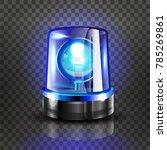 blue flasher siren vector....   Shutterstock .eps vector #785269861