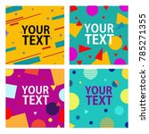 memphis style cards with... | Shutterstock .eps vector #785271355