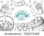 potato vector illustration. box ...   Shutterstock .eps vector #785272585