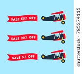 retro styled set of planes with ... | Shutterstock .eps vector #785274115
