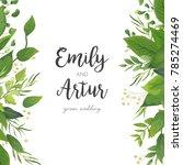 wedding invitation  save the... | Shutterstock .eps vector #785274469