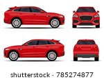 realistic suv car. front view ... | Shutterstock .eps vector #785274877