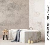 mock up bathroom in a modern... | Shutterstock . vector #785276134
