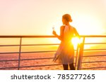 luxury cruise ship travel... | Shutterstock . vector #785277265
