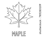 maple leaf icon. outline... | Shutterstock .eps vector #785283109