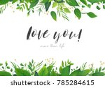 Vector Card Floral Design With...