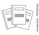 university book icon. outline... | Shutterstock .eps vector #785285461