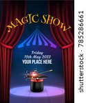 magic show poster design... | Shutterstock .eps vector #785286661