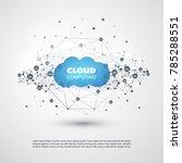 cloud computing design concept...   Shutterstock .eps vector #785288551