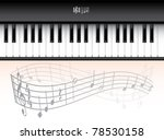 eps10 piano roll on abstract... | Shutterstock .eps vector #78530158