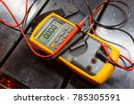 Yellow multimeter  a multimeter ...