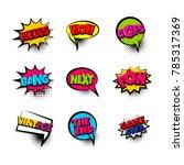 news wow oops pow bang. pop art ... | Shutterstock .eps vector #785317369