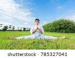 boy in white kimono during...   Shutterstock . vector #785327041