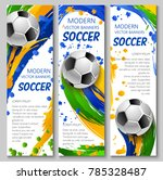 soccer vector banners for... | Shutterstock .eps vector #785328487