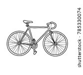 Bicycle Fixed Gear Doodle Icon