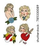 girls illustration traditional... | Shutterstock .eps vector #785330089