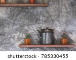 concrete wall background... | Shutterstock . vector #785330455