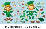 collection of leprechaun for... | Shutterstock .eps vector #785330629