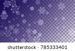 snowflakes christmas background.... | Shutterstock .eps vector #785333401