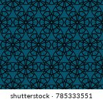 decorative seamless geometric... | Shutterstock .eps vector #785333551