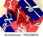 colorful presents with ribbons | Shutterstock . vector #785338051