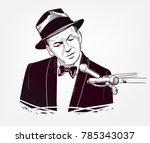 frank sinatra vector sketch... | Shutterstock .eps vector #785343037