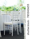 detail of white chair  fancy... | Shutterstock . vector #785343655