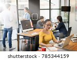 group of professional business... | Shutterstock . vector #785344159