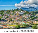 view from the sea of houses on... | Shutterstock . vector #785350507