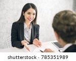asian business woman discussing ...   Shutterstock . vector #785351989