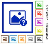unknown image flat color icons... | Shutterstock .eps vector #785352571
