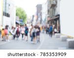 abstract blurred group fo young ... | Shutterstock . vector #785353909