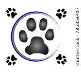 paw print dog   Shutterstock .eps vector #785356417