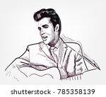 vector sketch illustration... | Shutterstock .eps vector #785358139