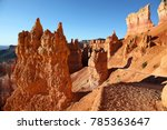 dramatic rock formations along... | Shutterstock . vector #785363647