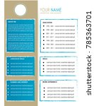 cv resume template design... | Shutterstock .eps vector #785363701
