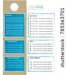 cv resume template design... | Shutterstock .eps vector #785363701