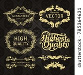 gold frame made in vector....   Shutterstock .eps vector #785364631