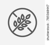 gluten free icon line symbol....